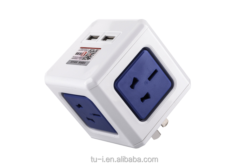 National Standard Rubik's cube Socket with USB Socket Extended Power strip