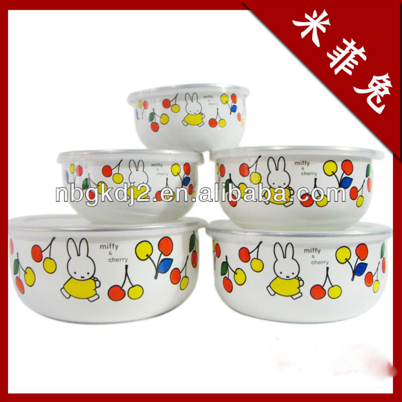 enamel cooking pot with PP lid