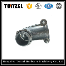 Angle squeeze zinc BX-FLEX connector by chinese supplier