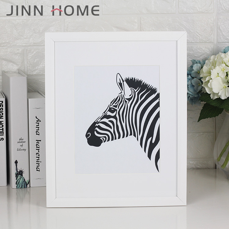 Zebra Artistic 11 x 14-Inch Picture Photo Frame with mount for 8 x 10-Inch photo white or black Wall Display