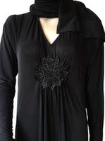 2013 New arrivals embroidery latest bat sleeves dubai black jersery abayasWholesale Abaya, Hijab , Jilbab, Kaftan, Muslim ,