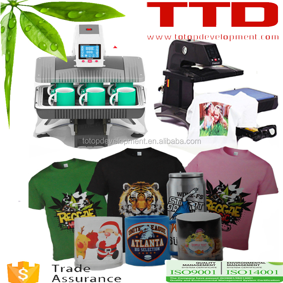automatic t-shirt transfer ,Mug and Phonecase 3d Sublimation machine ,soft case printing machine