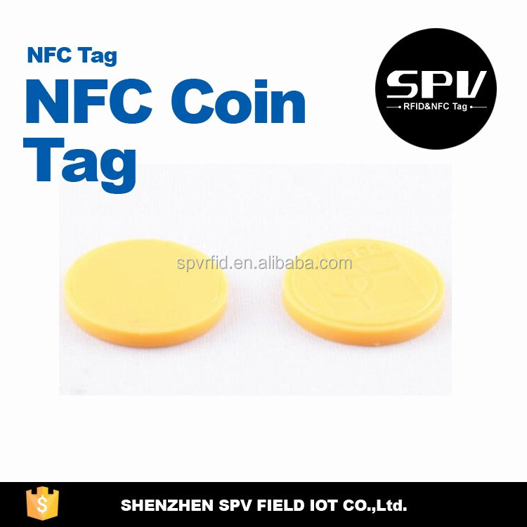 Round ISO11784/11785 EM4200 125/134.2KHz LF Coin Tag for Access/Security/Entrance Transfer