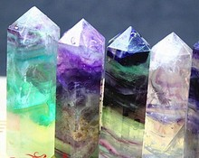 Wholesale Natural Crystal Rock Fluorite Point/Column for sale