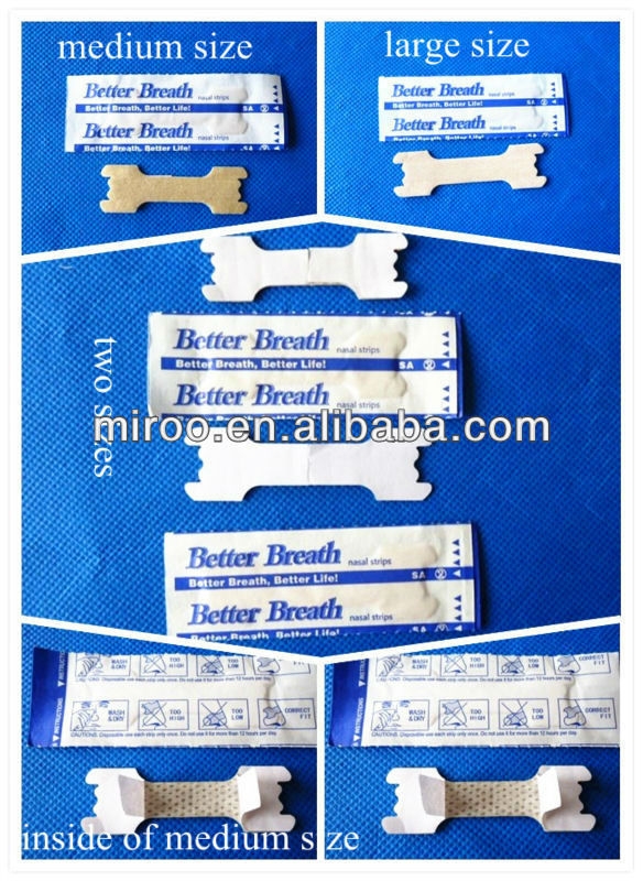 Wholesale OEM  Better Breath Nasal Strips to Stop Snoring,Breathe Right