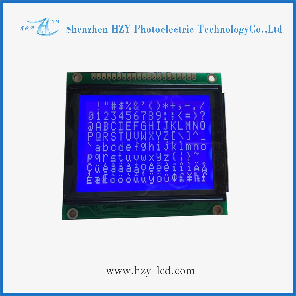 good reputation STN blue 128x64 dots graphic lcd display module