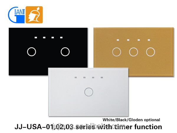 LED timer indicator light switch dimmer switch touch electrical switch for home use JJ-USA-02AB