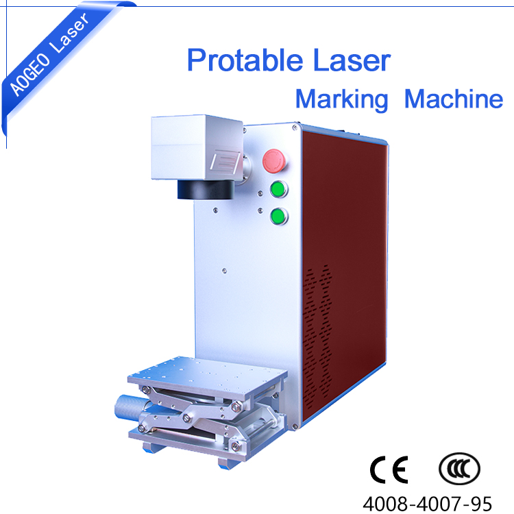 10W 20W 30W 50W Portable Mini Fiber Laser Marking Machine Price for Metal Plastic