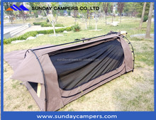 2016 New design canvas hike tent camping swag tent