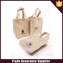 Hot selling fasion linen shopping bag
