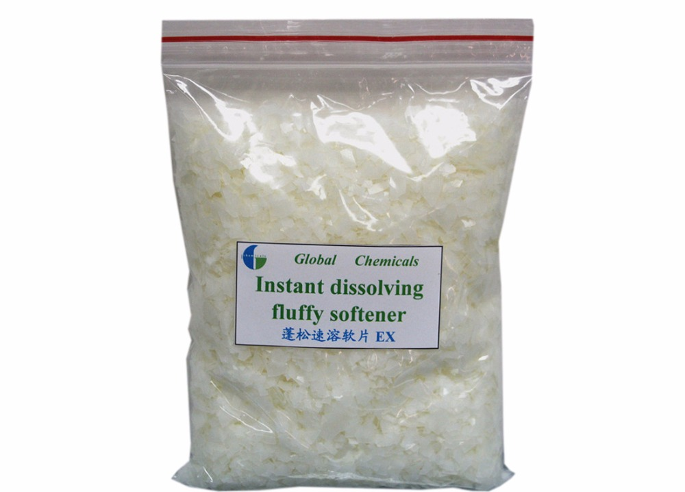 Cold Water Soluble Weak Cationic Instant Dissloving Fluffy Softener Flakes EX