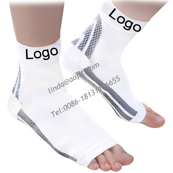 Foot Compression Sleeves - Toeless Socks for Heel Arch & Ankle Braces Support - Relieves Pain of Plantar Fasciitis