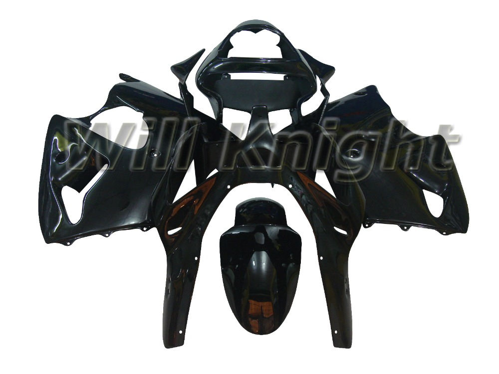 100% Fit Injection Fairings For Kawasaki Ninja 636 ZX6R ZX-6R 00 02 ABS Plastic Complete Motorcycle Fairing Kit Black