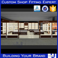 Customized transparent full vision craft store display fixture