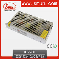 Hot-sale 220w 12v4a 24v7a dual output switching power supply special designed for TV