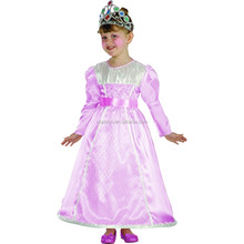 Pink Princess Party Dress For 2-12 Years Old Girls Royal Queen Fancy Dress Costumes