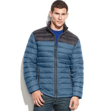 Contrast packable down super warm winter jackets