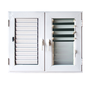 2017 new design aluminum casement window with price of glass aluminium louvers shutter manufacture in guangzhou