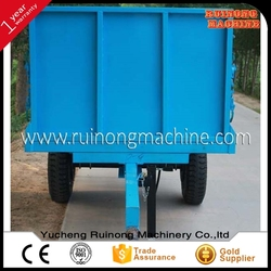 factory price 2 ton high hurdle farm tractor trailer for Africa market