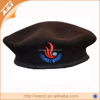 black custom design badge cap military beret army hats