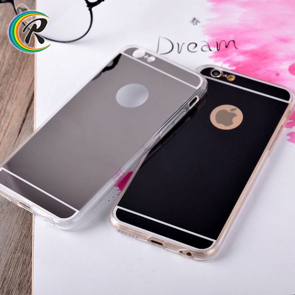 Easy fit electroplated silicone phone case for iPhone6 plus flexible electroplate tpu rubber skin shell