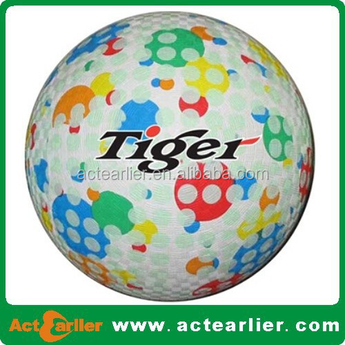 "7"" high quality rubber playground ball"