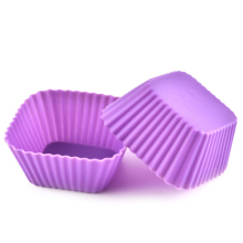Factory direct sale bakeware silicone muffin cups cake mold tool square cup of pudding