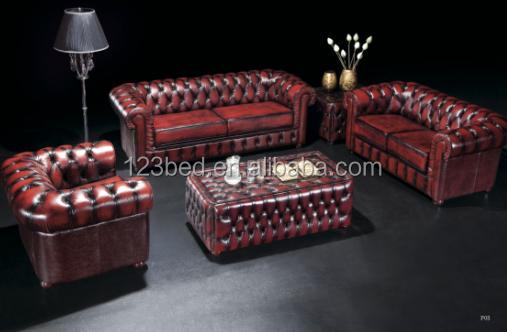 S073 europe hot sale chesterfield leather sofa