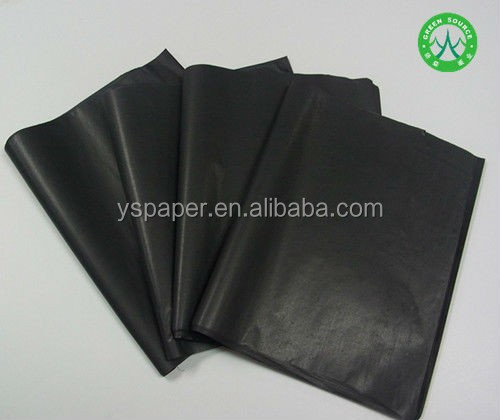 17g Plain Black Color Tissue Paper for Wrapping clothes/Dark black print logo tissue paper