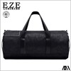 2017 fashion emboss men genuine leather weekender travel bag with compartment