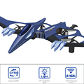 Gold selling price 2.4g pterosaur fixed wing drone with blue light
