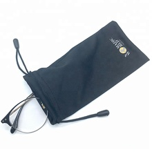 custom drawstring microfiber colorful pouch bag for glasses sunglasses jewelry with logo printed