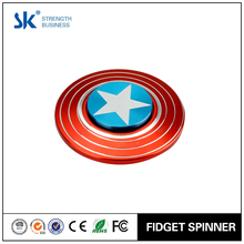 Sanke 2017 Captain America fidget spinner best metal with R188 bearing stress and anxiety relief toy