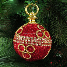 Christmas decoration supplies 8cm quality luxury red foam ball