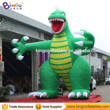 Customized Cartoon Model green giant inflatable dinosaur for display