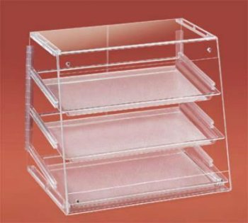custom acrylic bread display case rack