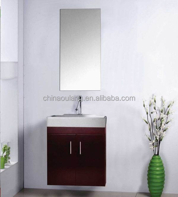 small size Modern Simple small wall mounted bathroom cabinet set with mirror