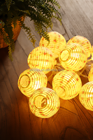 Battery-operated LED Paper Lantern String Lights