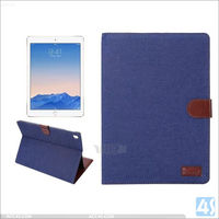 2016 Version Wake Up sleep function Jean Wallet Cover Case for iPad Pro 9.7 Air 3