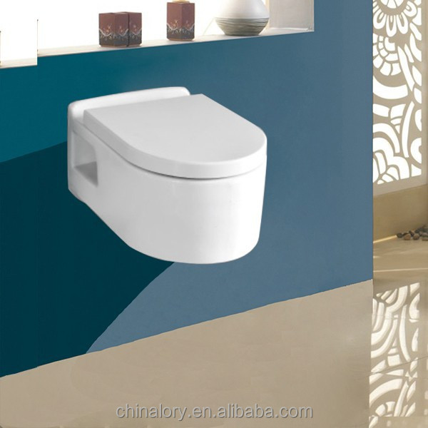 New design hot sale wall hung toilet hidden water tank toilet