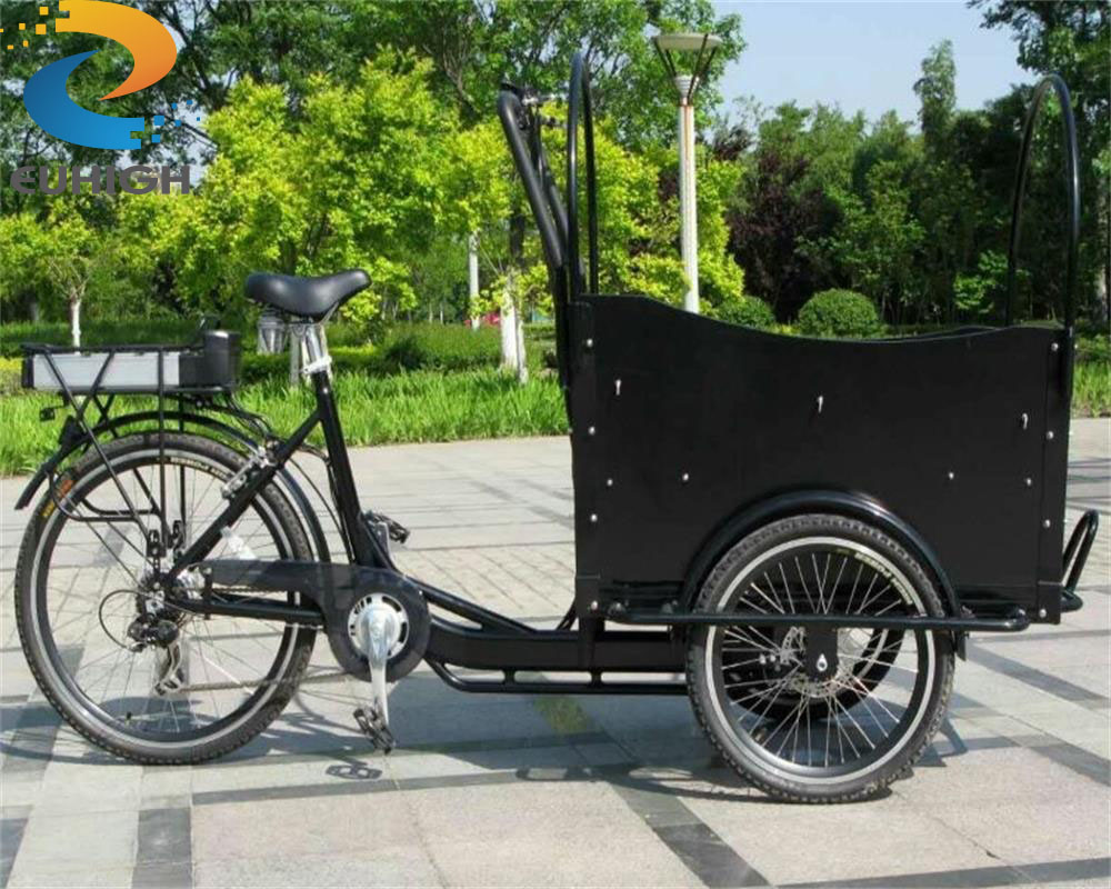 Backward Rickshaw Tricycle Electric Cargo Bike For Sale
