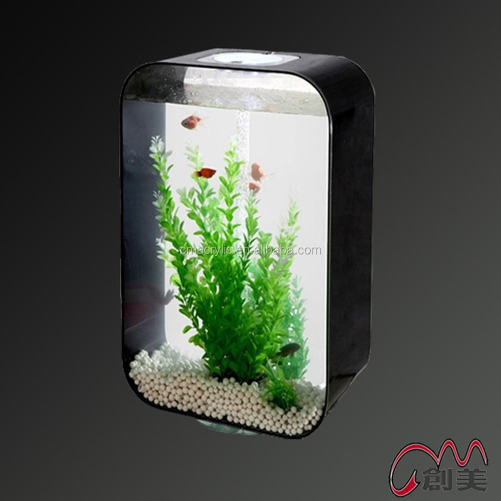 Good gift beautiful artificial plants plastic mini aquarium