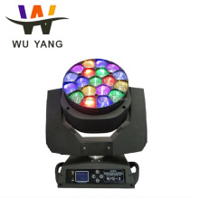 high demand stage decoration led Beam wash Zoom Bee eye 19x15w led moving head light