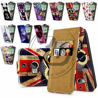For HTC One M8 High Quality Print Flip PU Leather Case Cover Moible Phone Case