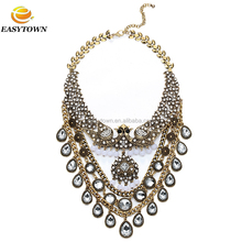 Wholesale big diamond statement necklace 2013