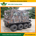 XBH 8X8-2 Standard vehicle with folding shelter 800cc 8 Wheel 4 Stroke rain proof go any where ATV