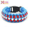 3 color paracord sport wrap bracelet with buckle instructions