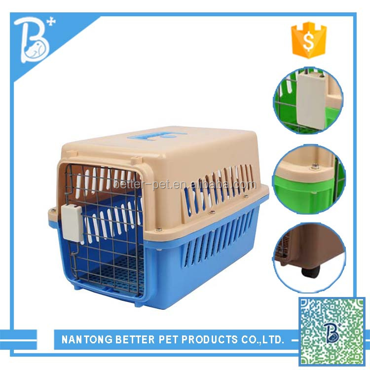 Airline Approved Plastic Dog / Cat Pet Kennel Carrier