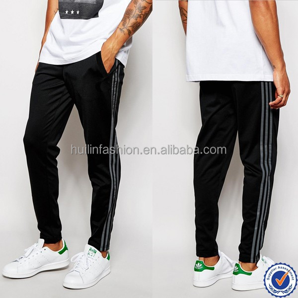 man's fashion pants wholesale factories skinny men jogger pants custom side stripes harem pants