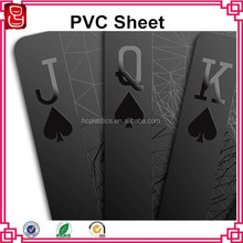 Entertainment playing cards black PVC matt rigid sheet